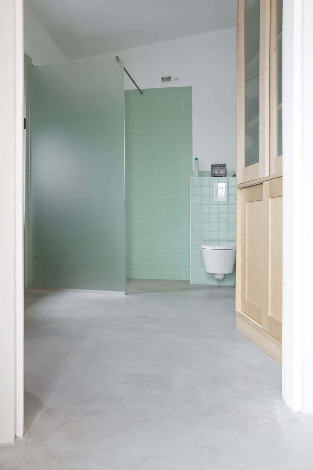 betonvloer badkamer, betonnen vloer