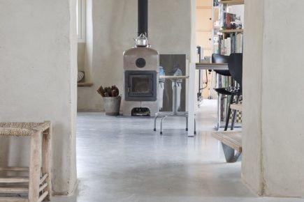 Gevlinderde woonbeton vloer in Bleskensgraaf