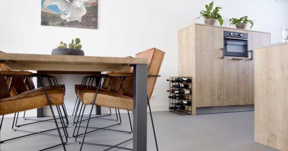 beton ciré vloer keuken, betonlook vloer keuken