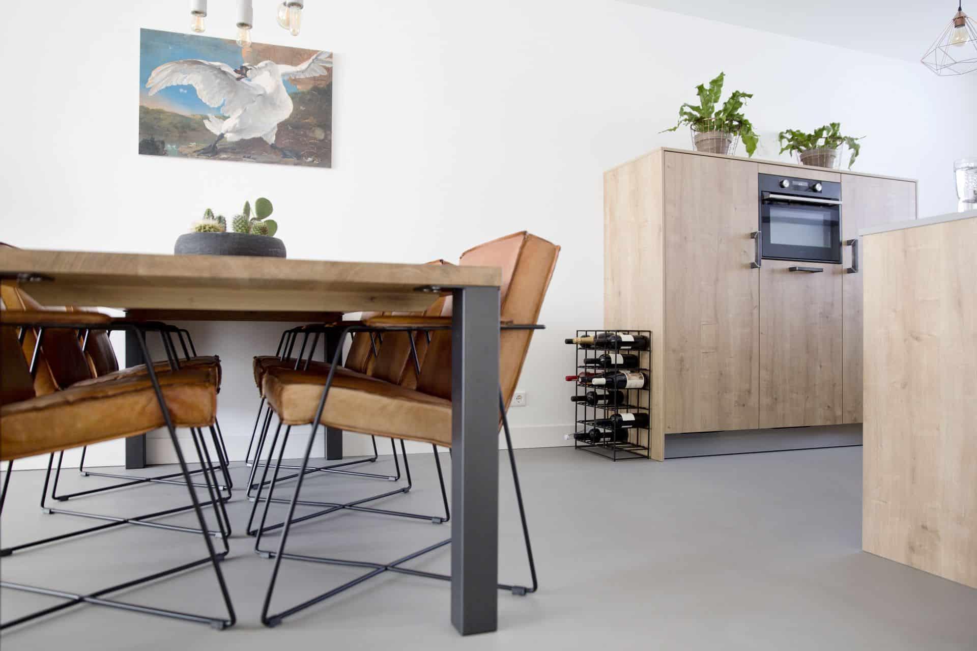 beton ciré vloer keuken