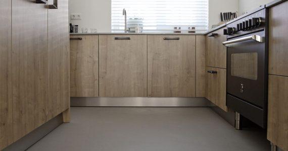 betonlook keuken, keuken betonlook vloer