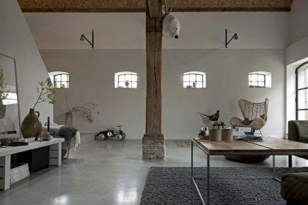 Gevlinderde woonbeton vloer in Driebergen