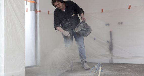 Gekleurde betonvloer, kleur in beton, kleurpigment beton
