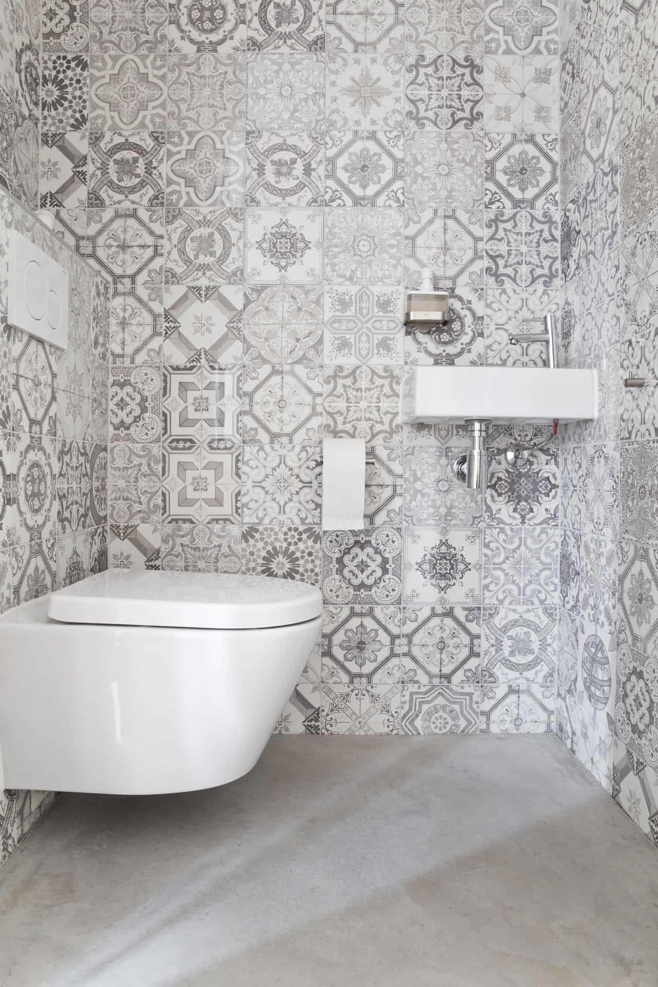 betonnen vloer toilet