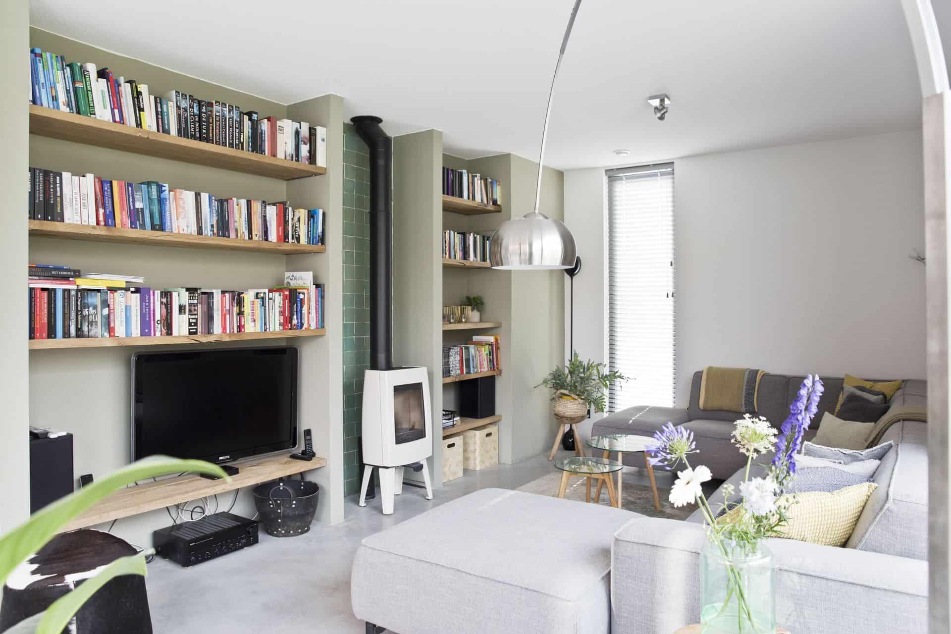 betonnen vloer woonkamer, betonvloer huiskamer