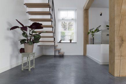 Gevlinderde woonbeton vloer in Heteren