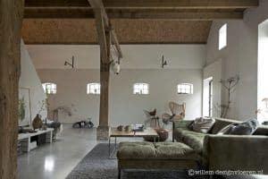 Betonvloer in een landelijk huis