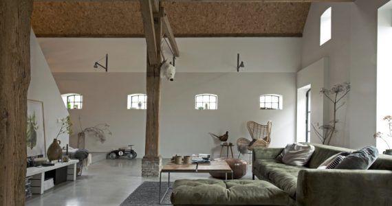 Gevlinderde betonvloer, betonvloeren, betonnen vloer